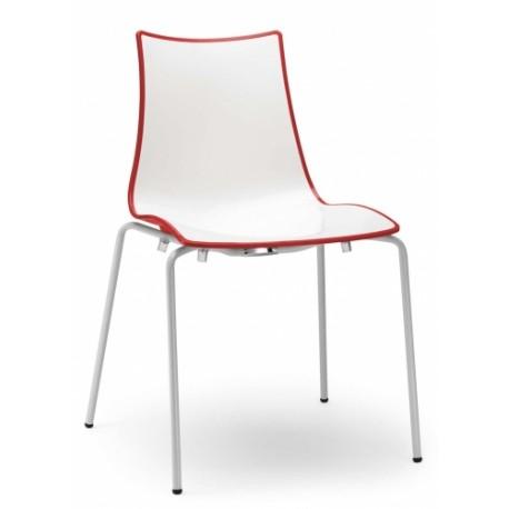 Plastová židle ZEBRA BICOLORE Scab (odběr po 4ks)