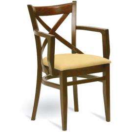 Dřevěná židle s područkami B-5245