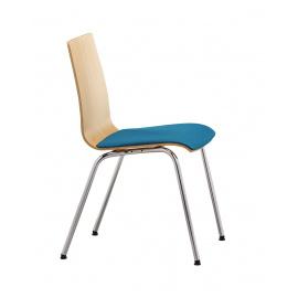 Dřevěná konferenční židle SITTY  SI4102 čalouněný sedák