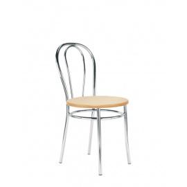 Jednoduchá kovová židle s prázdným opěrákem TULIPAN wood