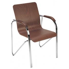 Kovová konferenční židle s kovovou kostrou SAMBA wood