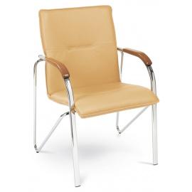 Kovová čalouněná židle SAMBA vhodná k jídelnímu stolu i kancelářských prostor