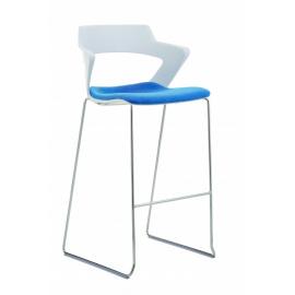 2160SB TC Aoki barová židle s čalouněným sedákem