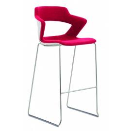 2160SB TC Aoki barová židle s čalouněným sedákem a opěrákem