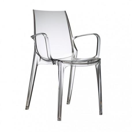 Plastová židle VANITY P Barva plastu Scab Transparentní čirá