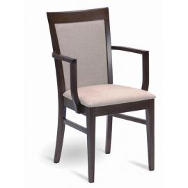 Dřevěná židle A-0990 s područkami