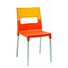 Zahradní židle DIVANA, Oranžová + průhledná oranžová
