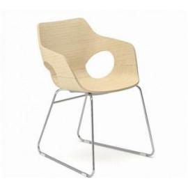 Dřevěná jednací židle EM 206
