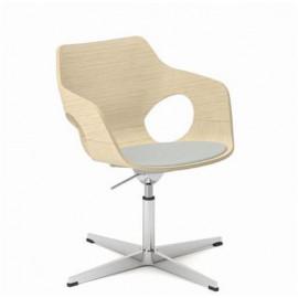 Dřevěná jednací židle EM 207/F