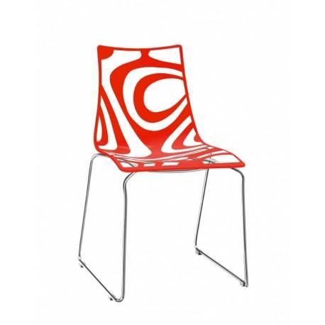 Plastová židle WAVE sledge frame Scab