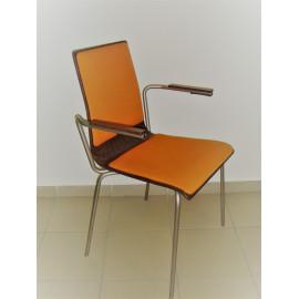 Konferenční dřevěná židle CAFE s područkami
