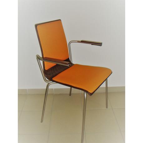 Konferenční dřevěná židle CAFE s područkami Nowy styl vyprodej