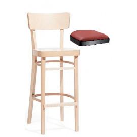 Dřevěná barová židle IDEAL 313 485 s čalouněným sedákem