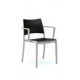 Jednací plastová židle s područkami EM192