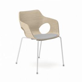 Dřevěná jednací židle EM 205