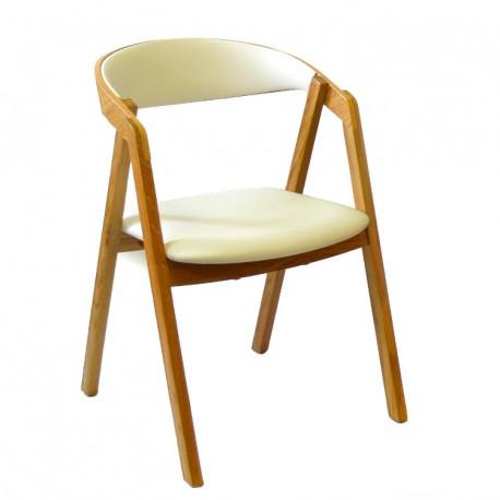 Dřevěná židle GURU s čalouněným sedákem a opěrákem ITTC Stima