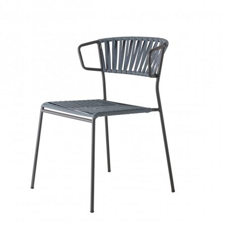 ARMCHAIR LISA CLUB - zahradní židle s područkami Barva kostry Scab antracit PVC výplet SCAB P86 - antracit 287486