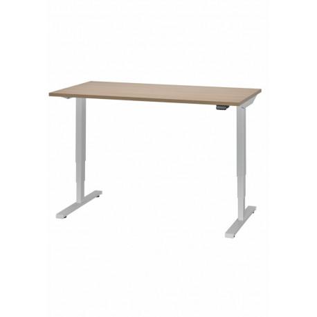 Elektricky stavitelný stůl ADJUST Barva podnože černá podnož (RAL 9005) Doplňky bez kabelového organizéru Moření RIM bílá Egger W980ST2 Rozměr desky stolu rozměr desky stolu 160 x 80 cm přípojné místo bez přípojného místa