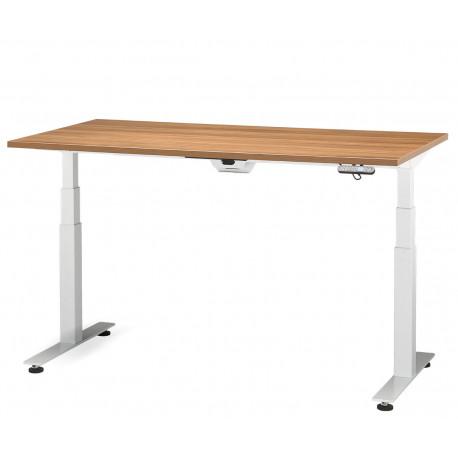Elektricky stavitelný stůl ADJUST 2 AD 5481 Doplňky s bílým kabelovým organizérem Moření RIM buk Bavaria Kronospan 381 PR Rozměr desky stolu rozměr desky stolu 160 x 80 cm přípojné místo bez přípojného místa
