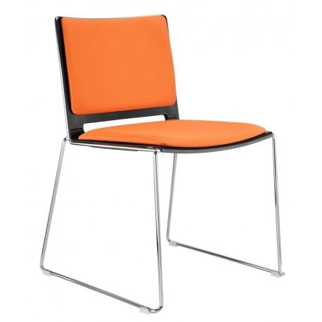 Plastová židle FILO s čalouněním Alba - Empire