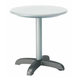Stůl plastový DODOTA K, hliník - lněná