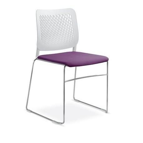 Plastová židle TIME 161 s čalouněným sedákem LD seating