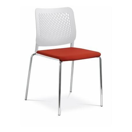 Plastová židle TIME 171 s čalouněným sedákem LD seating