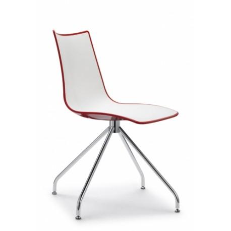Plastová židle ZEBRA BICOLORE otočná Scab (odběr po 2ks)