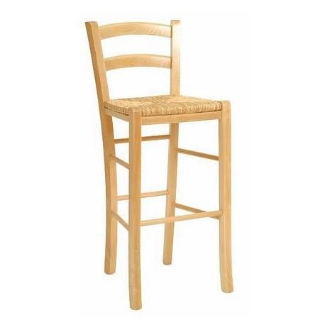 Dřevěná barová židle PAYSANE - výplet ITTC Stima