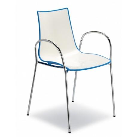 Plastová židle ZEBRA BICOLORE P Scab (odběr po 2ks)