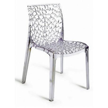 Plastová židle GRUVYER transparentní ITTC Stima