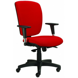 Kancelářská židle MATRIX černý s výškově stavitelnými područkami P43