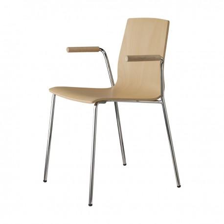 Jídelní židle ALICE WOOD open arms Scab (odběr po 2ks)