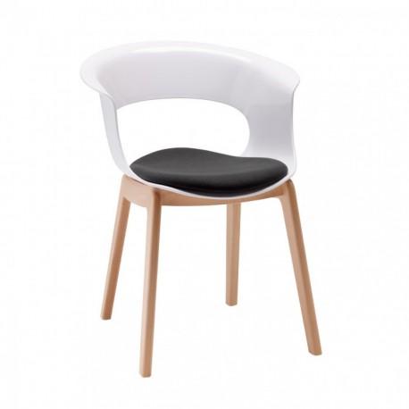 Plastová židle NATURAL MISS B s polštářkem Scab (odběr po 2ks)