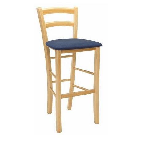 Dřevěná barová židle PAYSANE - čalouněná ITTC Stima